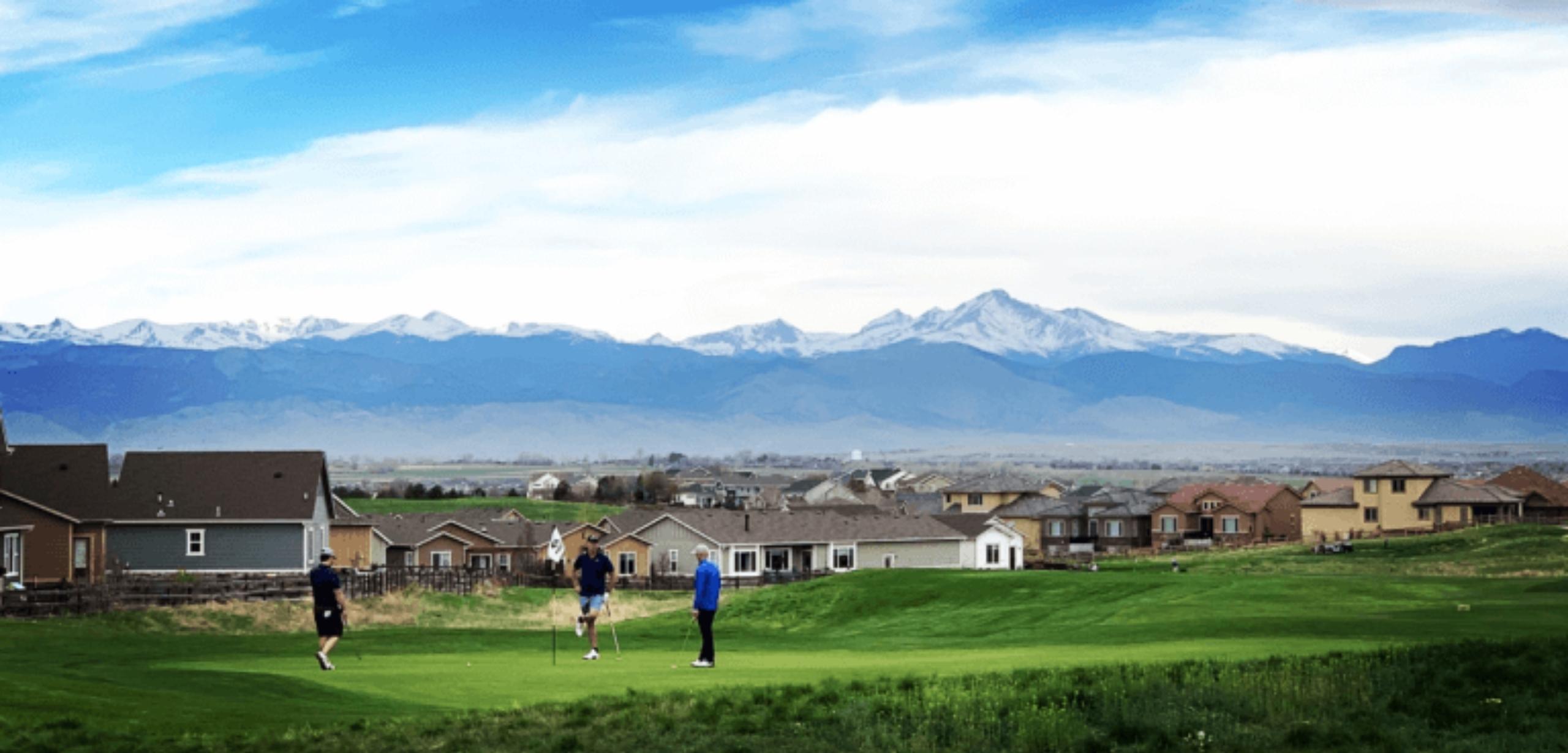 Erie Colorado Boulder Valley Longs Peak View Colorado National Golf Club University of Colorado Golf Course Vista Ridge