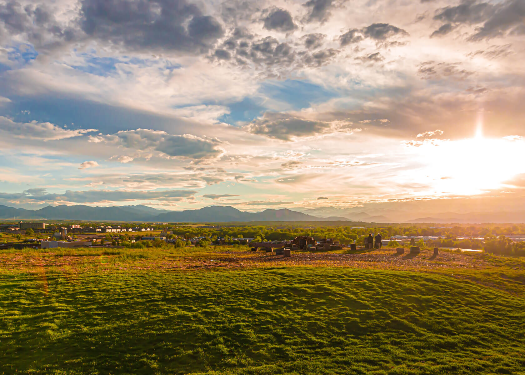 View of Boulder Valley from Acreage in Lafayette Colorado